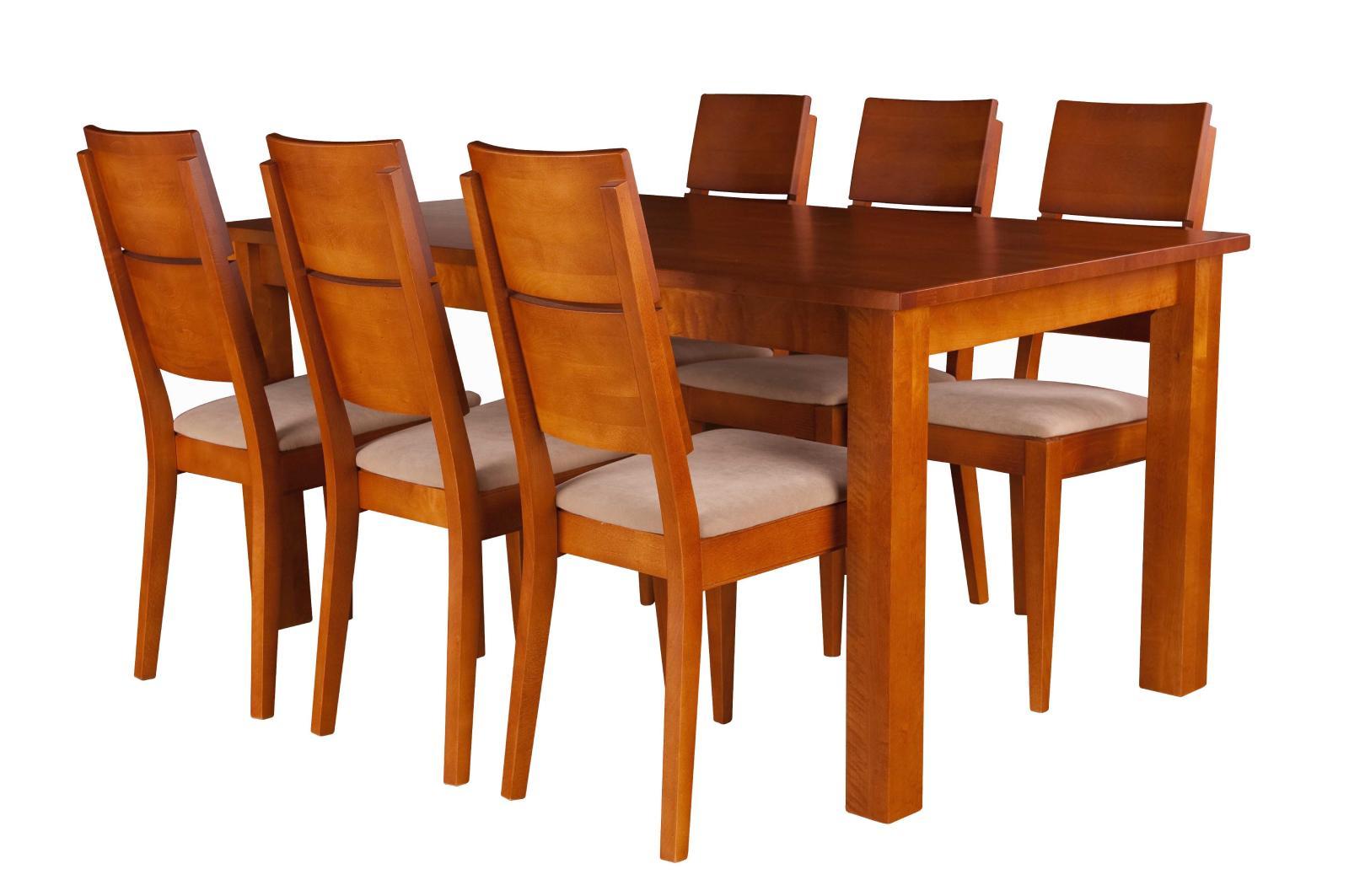 Stół i krzesła drewniane