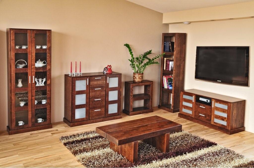 salon meble drewniane