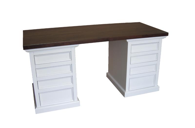 biurko z drewna bukowego