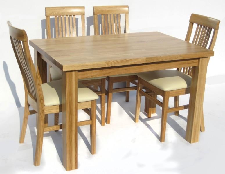 Stół Dębowy S3 Blat 4 Cm Producent Edar