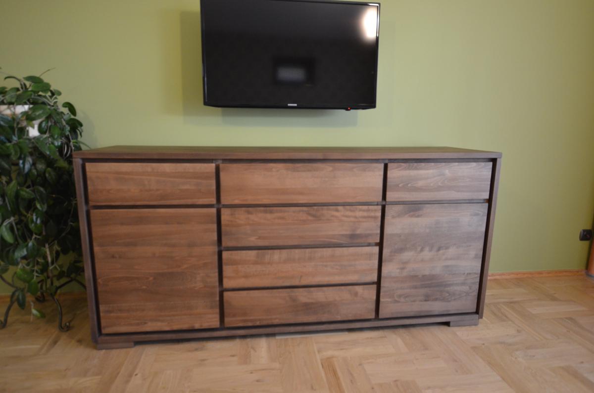 komoda drewniana bukowa
