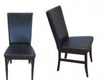 krzesło z czarną tapicerką