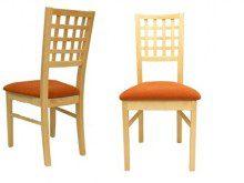 Krzesła bukowe z kratką