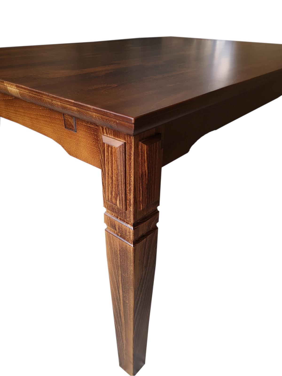 stół bukowy z frezem