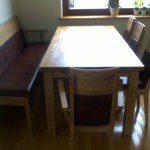 drewniane stoły, drewniane meble kuchenne