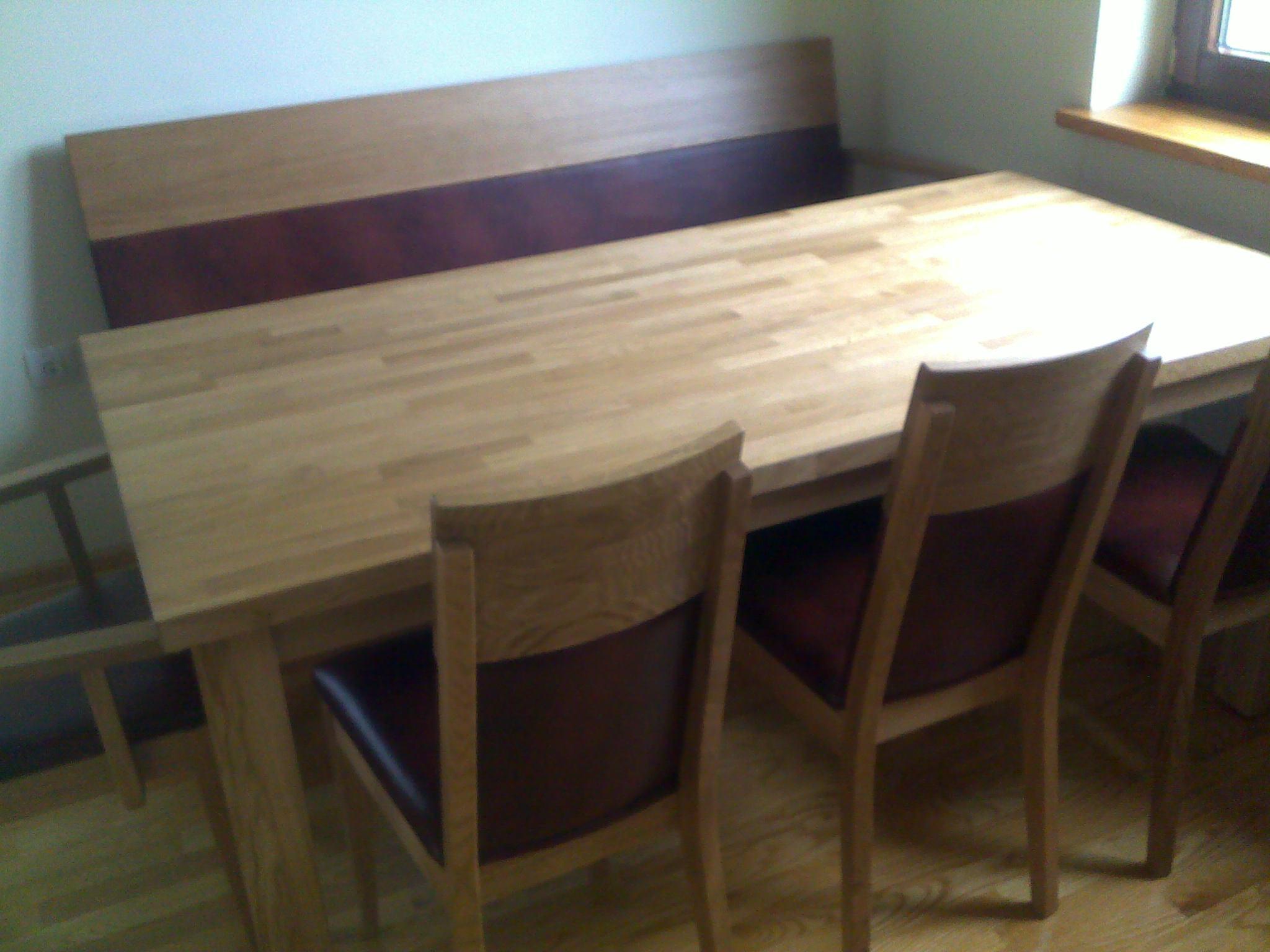 drewniana ławka kuchenna
