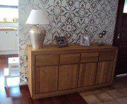 komoda z litego drewna dębowego