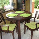 meble drewniane stół okragły z szufladkami meble z litego drewna