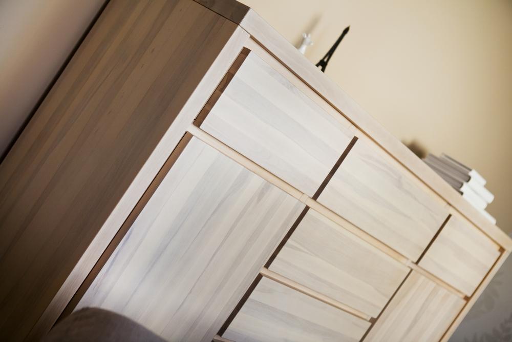 Komoda 6S2D Almera 4cm drewno buk twardzielowy w kolorze ecru