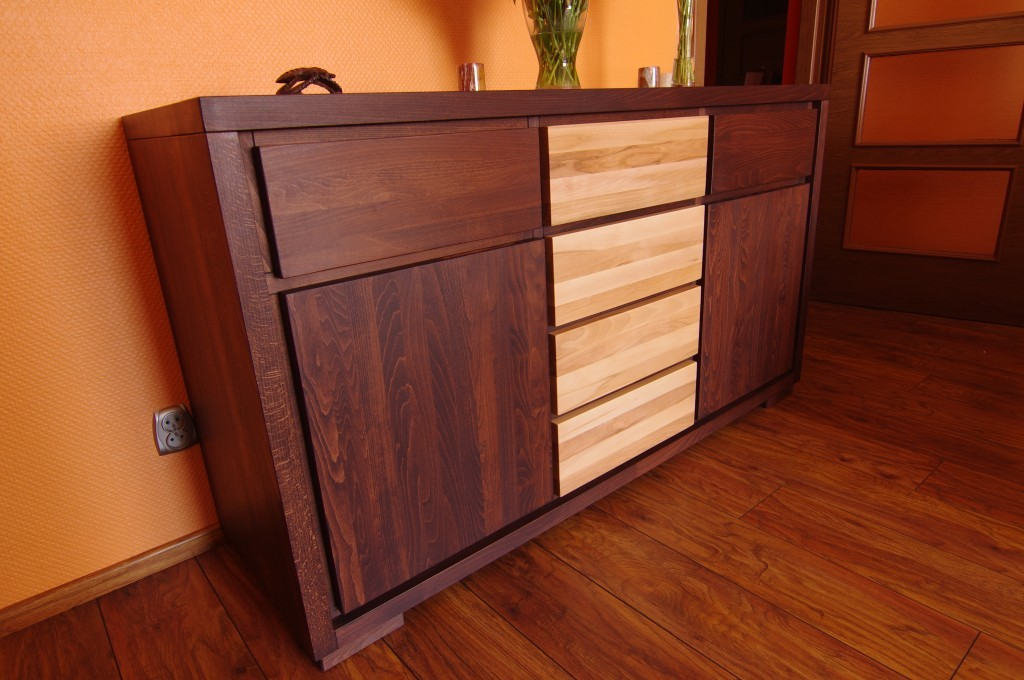 komoda drewniana dwukolorowa