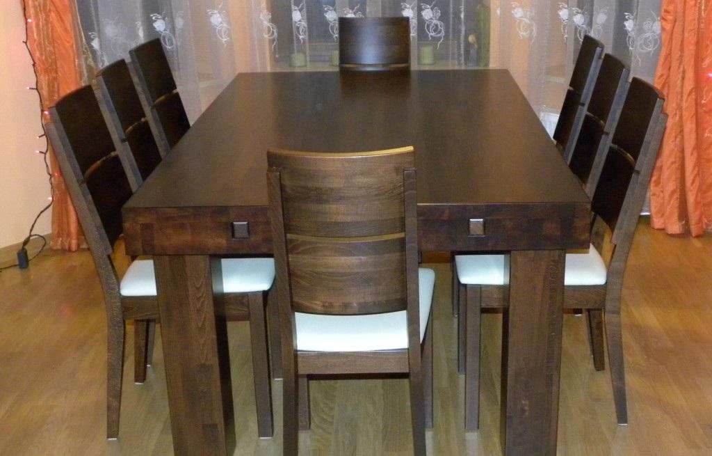 meble drewniane masywny stół Atlas