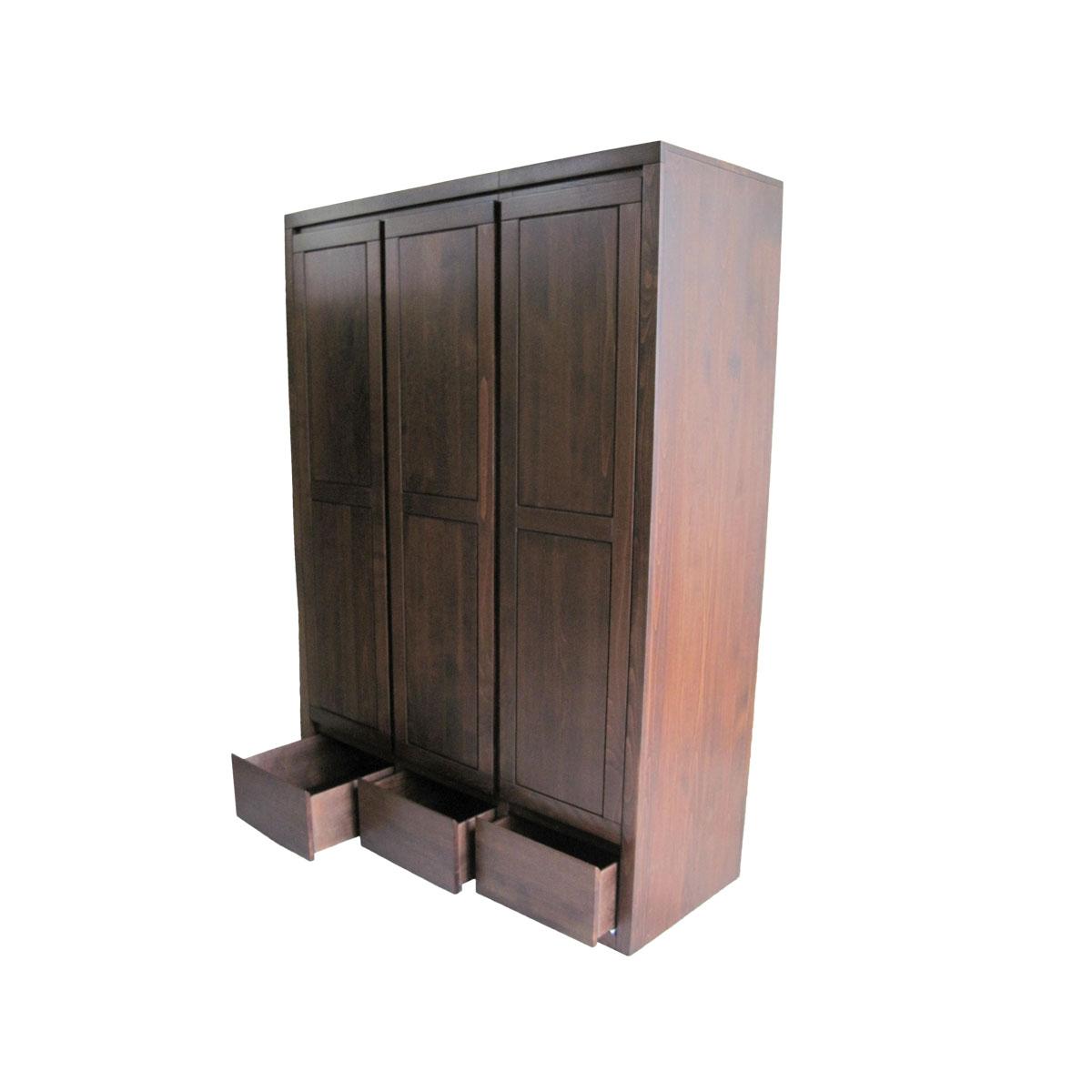 szafa bukowa z trzema szufladami