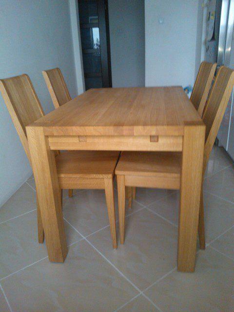 Stół Dębowy S1 I Krzesła Spring K1 Producent Edar