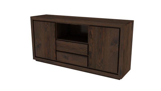 komoda drewniana rtv dwie szuflady