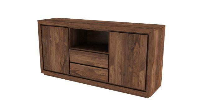 drewniana komoda  rtv dwie szuflady