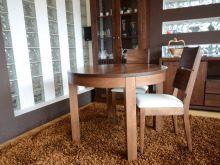 Okrągły stół z drewna bukoweo