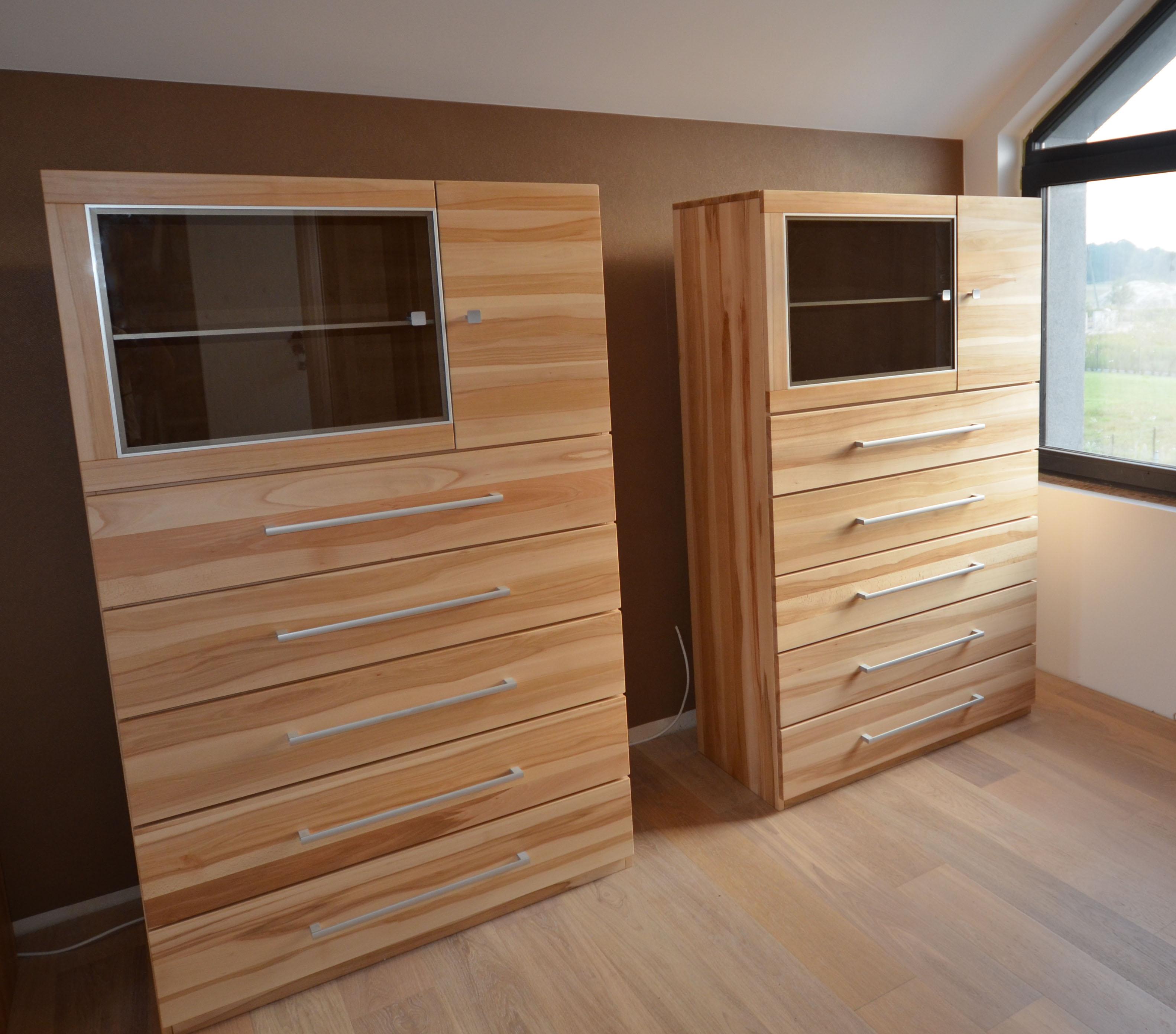 komody drewniane bukowe