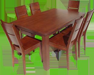 stół drewniany i krzesła w całości z drewna bukowego