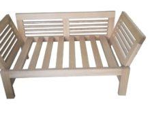 Sofa drewniana rozkładana