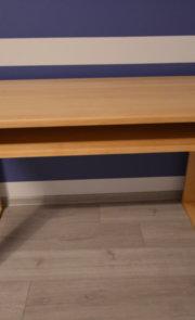 Nowoczesne biurko z drewna bukowego naturalne