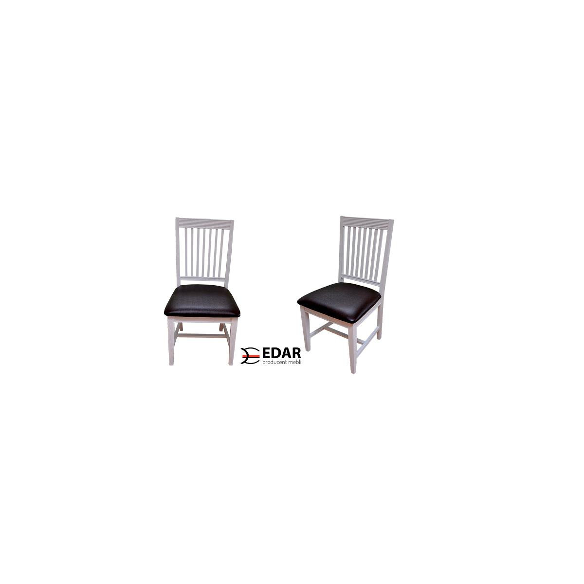 krzesła bukowe malowane na kolor biały