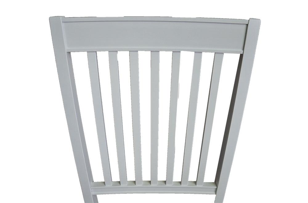 krzesło bukowe tapicerowane na biało