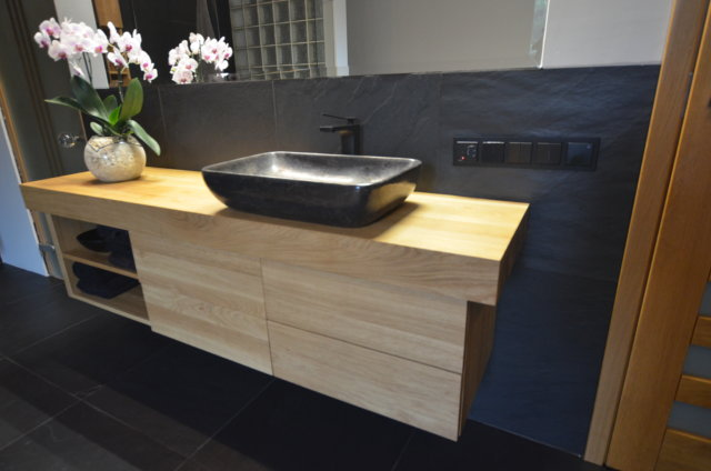 lite drewno łazienka meble