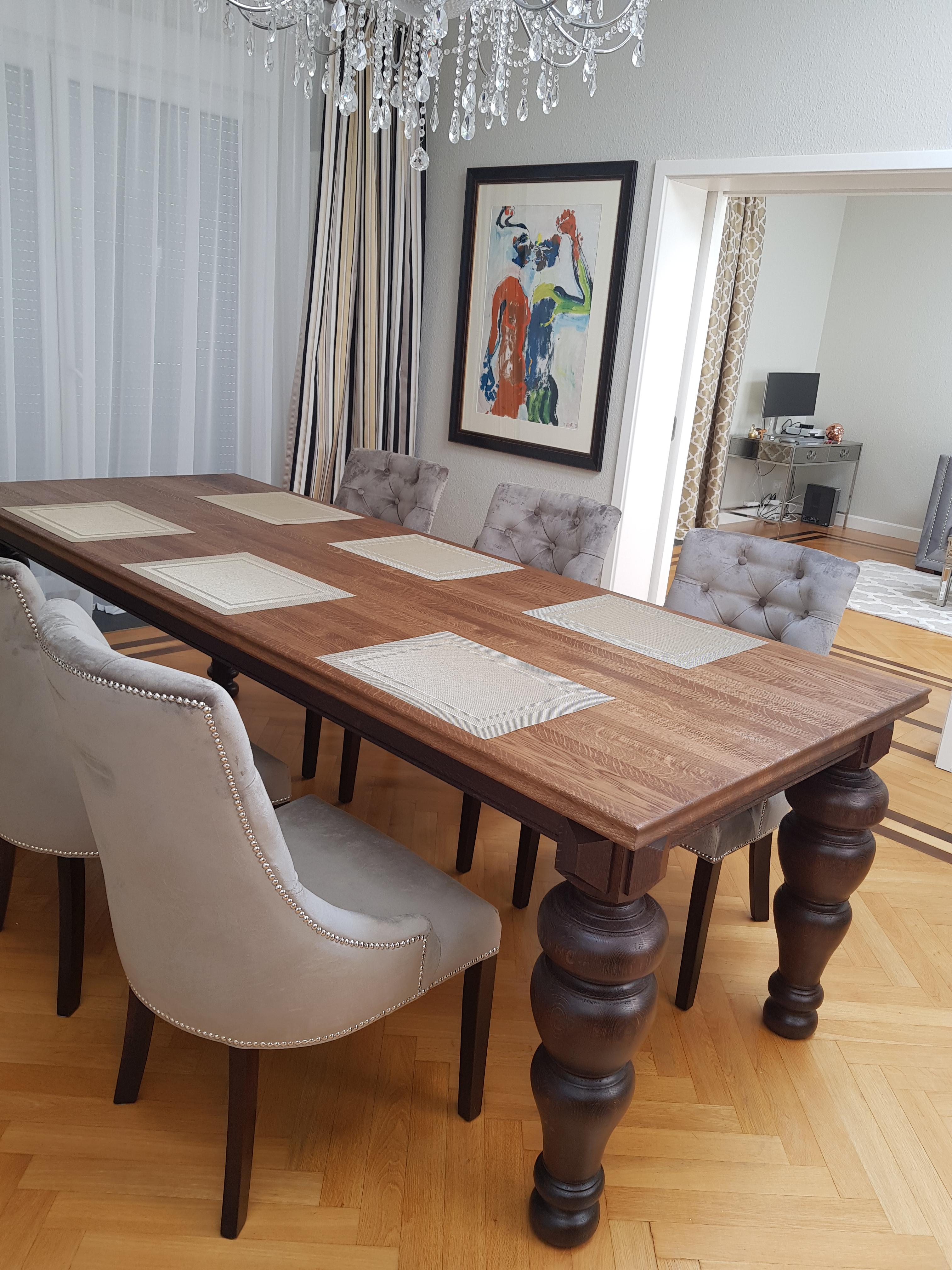 stół toczony drewniany