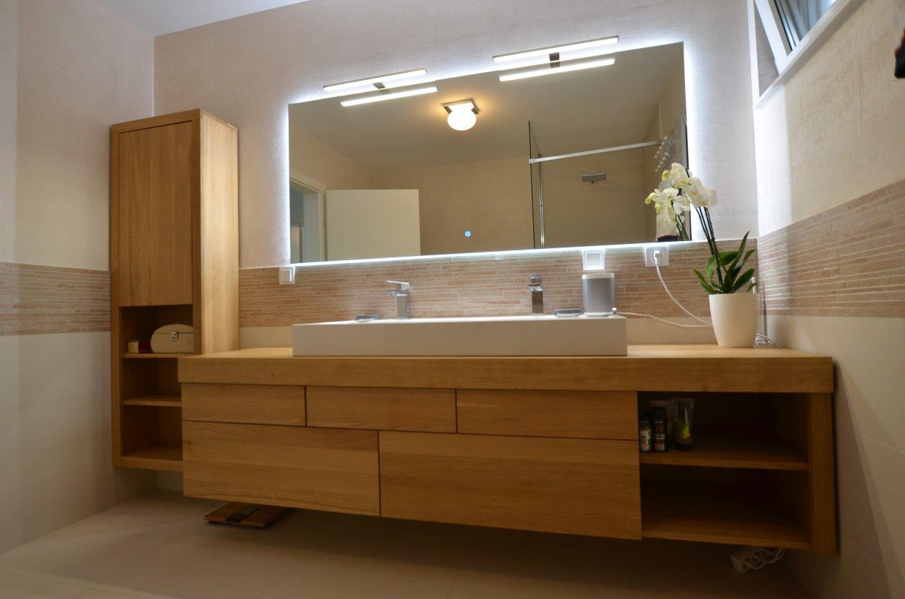 meble do łazienki dębowe