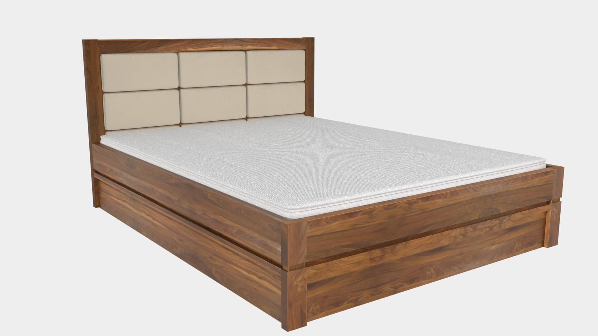 łóżko orzech amerykański tapicerka carabu