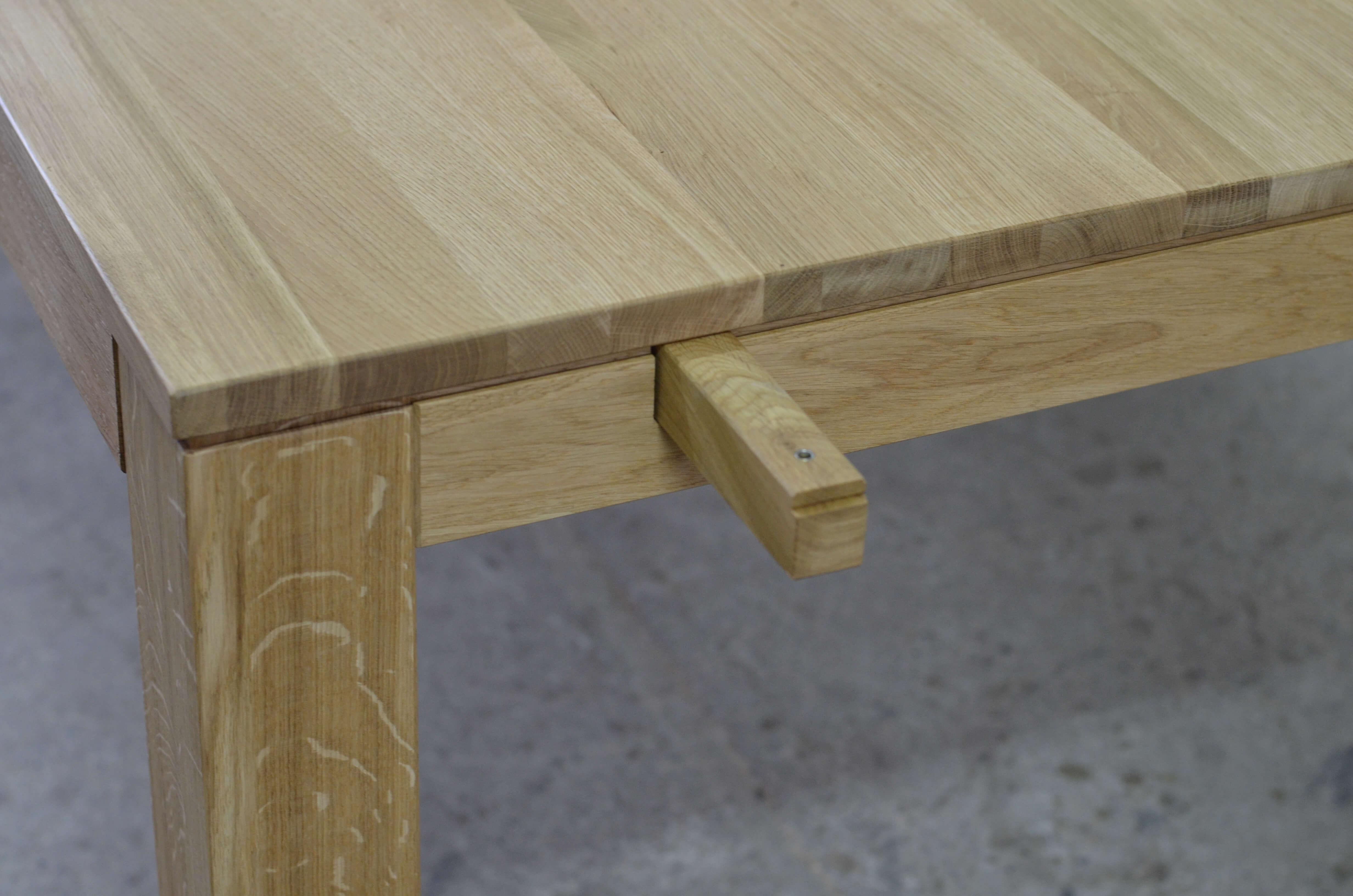 stół lite drewno dębowe rozkładany