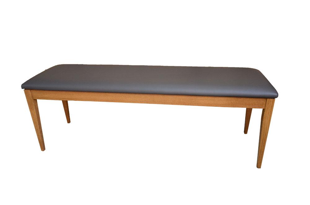 ławka tapicerowana dębowa