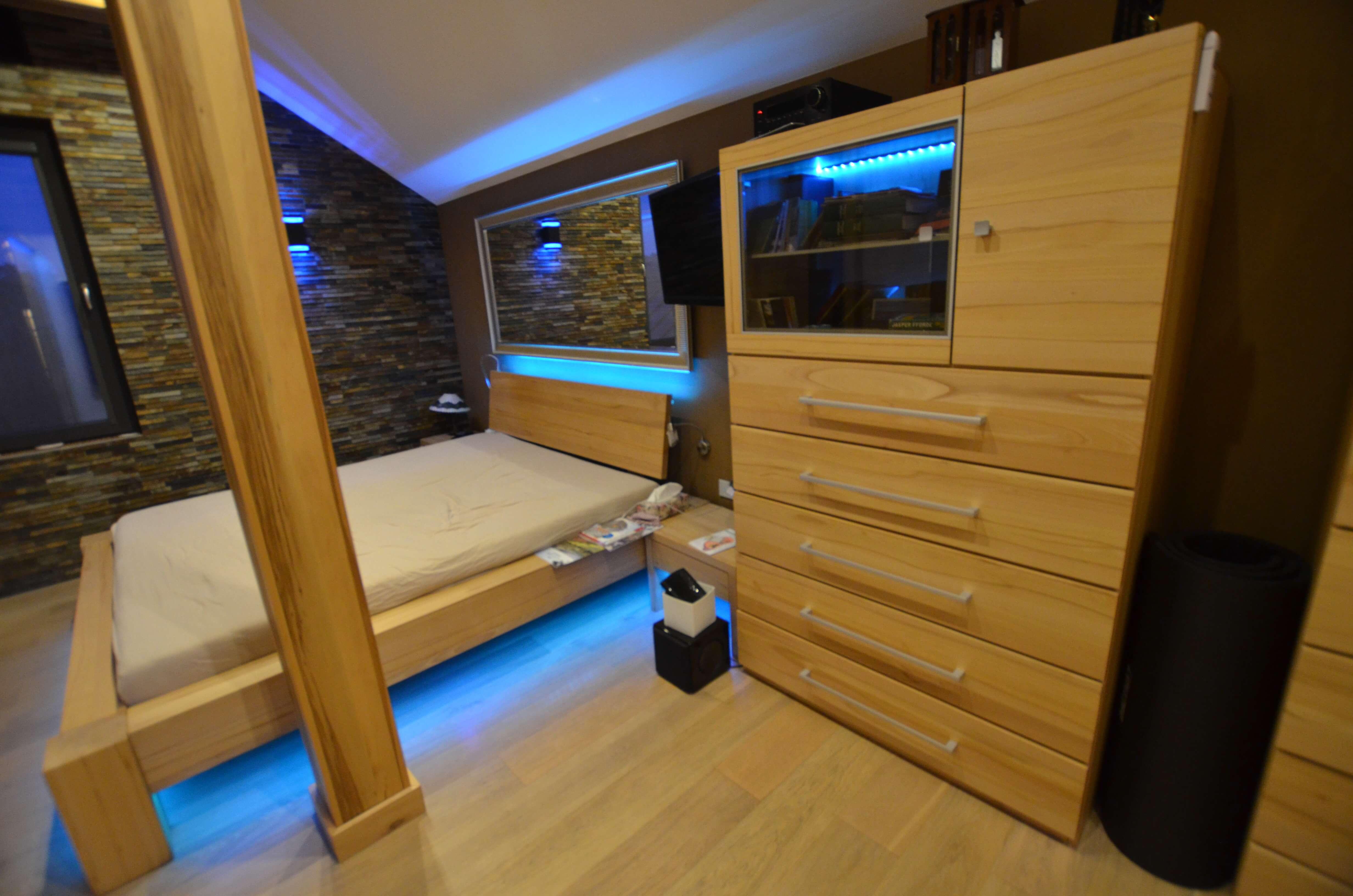 masywne łóżko bukowe lite drewno