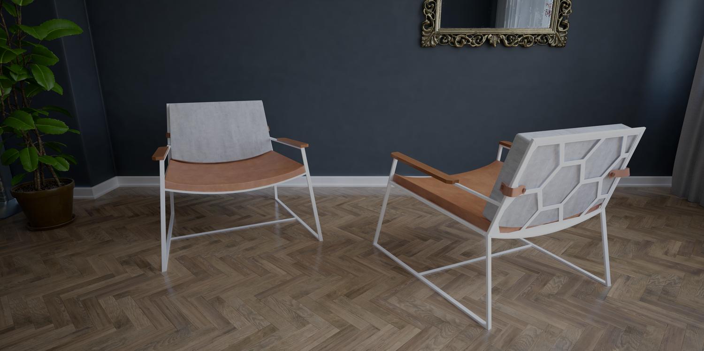 fotel konstrukcja biała