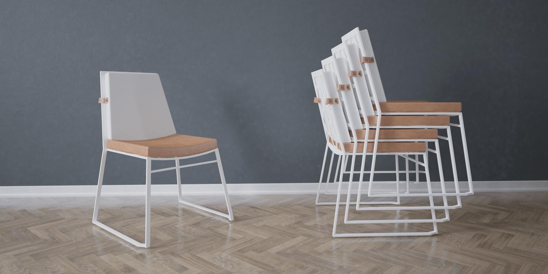 sztaplowane krzesło ogrodowe