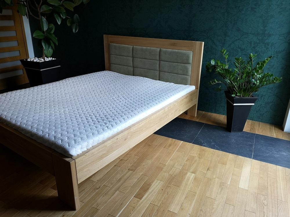 Łóże dębowe tapiceorwane