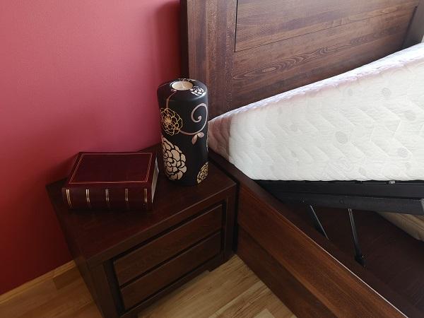 łóżko bukowe stelaż podnoszony i skrzynia