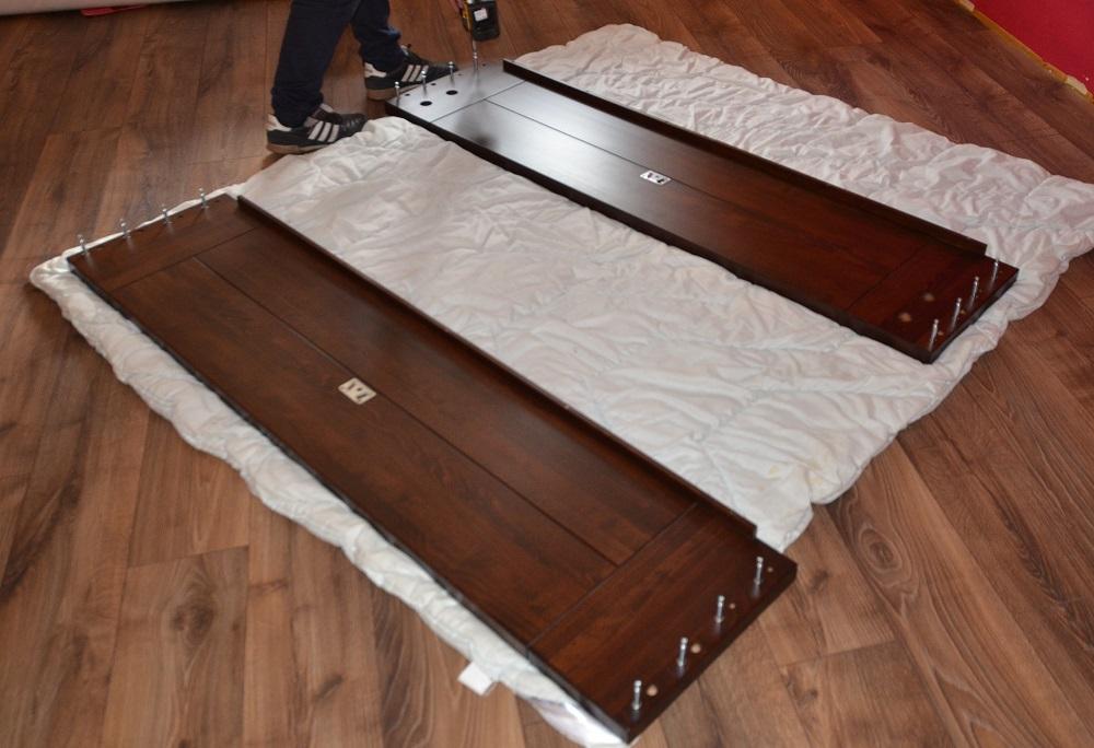 montaż łóżka przód i tył łóżka